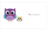 Bébé hibou Cartes Pour Le Bureau - gabarit prédéfini. <br/>Utilisez notre logiciel Avery Design & Print Online pour personnaliser facilement la conception.