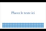 Cercles bleus Cartes Pour Le Bureau - gabarit prédéfini. <br/>Utilisez notre logiciel Avery Design & Print Online pour personnaliser facilement la conception.