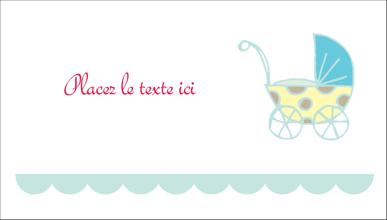 """3"""" x 5"""" Cartes Pour Le Bureau - Poussette pour bébé avec tons bleus"""