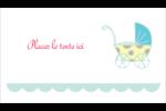 Poussette pour bébé avec tons bleus  Cartes Pour Le Bureau - gabarit prédéfini. <br/>Utilisez notre logiciel Avery Design & Print Online pour personnaliser facilement la conception.