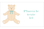 Nounours pour bébé Cartes Pour Le Bureau - gabarit prédéfini. <br/>Utilisez notre logiciel Avery Design & Print Online pour personnaliser facilement la conception.