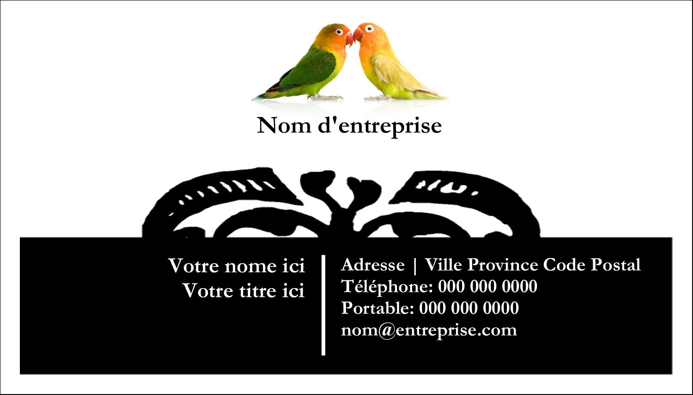 """2"""" x 3½"""" Carte d'affaire - Oiseaux en nature"""