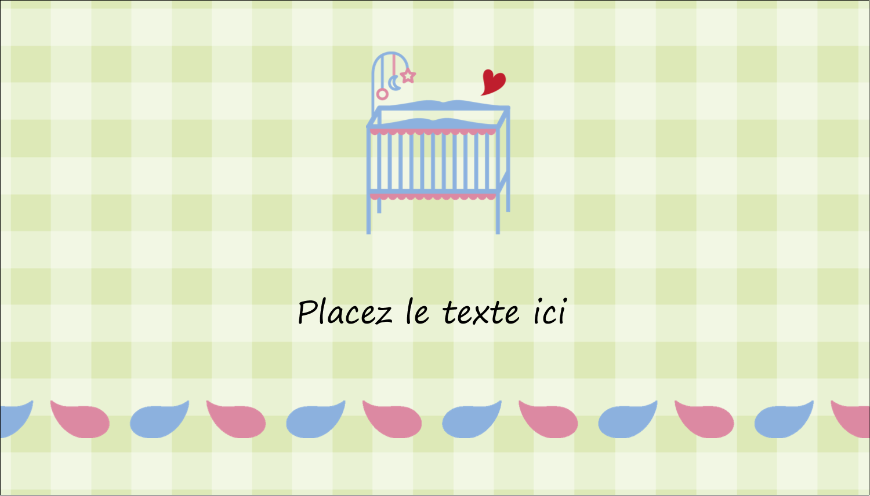 """2"""" x 3½"""" Carte d'affaire - Lit de bébé"""