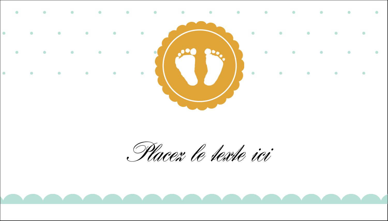 """2"""" x 3½"""" Carte d'affaire - Empreintes de bébé"""
