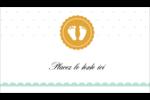 Empreintes de bébé Carte d'affaire - gabarit prédéfini. <br/>Utilisez notre logiciel Avery Design & Print Online pour personnaliser facilement la conception.