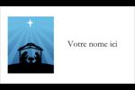 Berceau de Noël Carte d'affaire - gabarit prédéfini. <br/>Utilisez notre logiciel Avery Design & Print Online pour personnaliser facilement la conception.