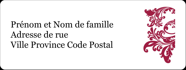 """⅔"""" x 1¾"""" Étiquettes D'Adresse - Anniversaire"""