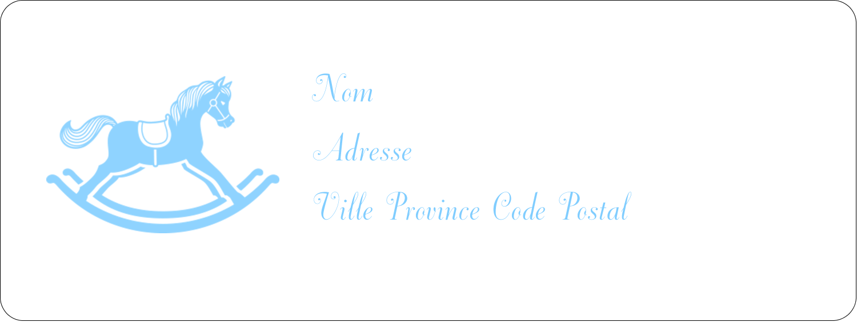 """1½"""" x 4"""" Étiquettes D'Adresse - Cheval à bascule"""