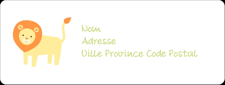 "1½"" x 4"" Étiquettes D'Adresse - Bébé safari"