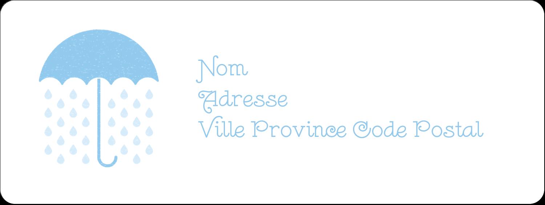 """1½"""" x 4"""" Étiquettes D'Adresse - Parapluie pour bébé"""