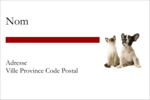 Adorables animaux de compagnie Étiquettes Polyvalentes - gabarit prédéfini. <br/>Utilisez notre logiciel Avery Design & Print Online pour personnaliser facilement la conception.