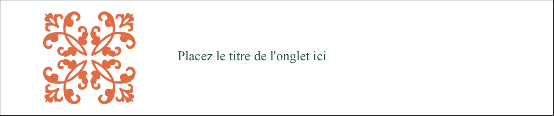 "8½"" x 11"" Intercalaires / Onglets - Concept Arc Orange"