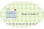 Lit de bébé Étiquettes carrées - gabarit prédéfini. <br/>Utilisez notre logiciel Avery Design & Print Online pour personnaliser facilement la conception.