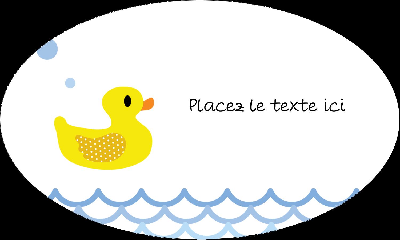 """1½"""" x 1½"""" Étiquettes carrées - Petit canard"""