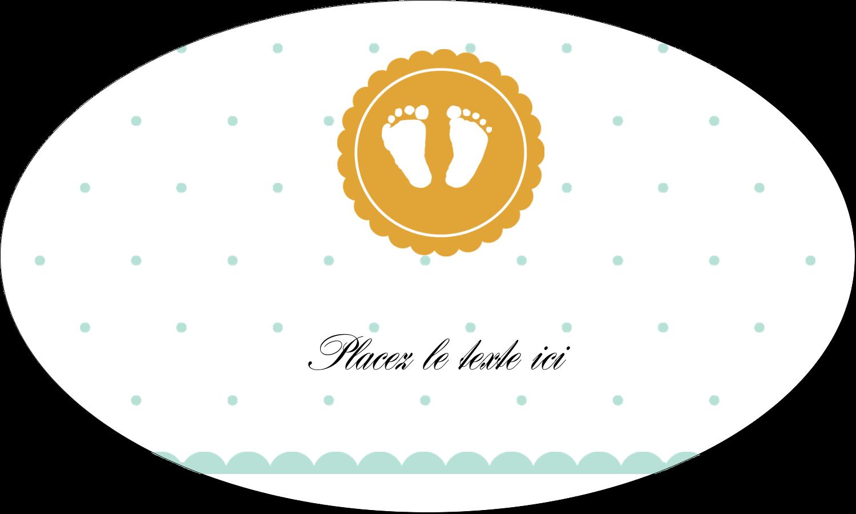 """1½"""" x 1½"""" Étiquettes carrées - Empreintes de bébé"""