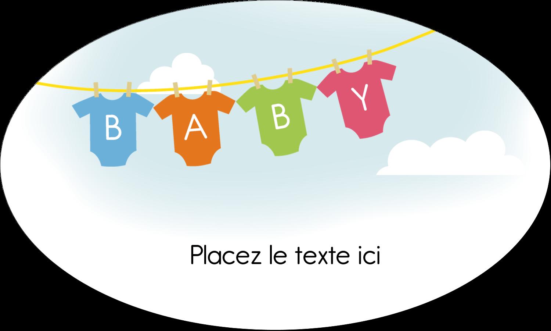 """1½"""" x 1½"""" Étiquettes carrées - Combinaisons pour bébé"""