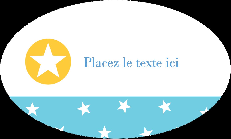 """1½"""" x 1½"""" Étiquettes carrées - Étoiles avec tons bleus et jaunes"""