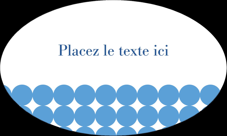 """1½"""" x 1½"""" Étiquettes carrées - Cercles bleus"""