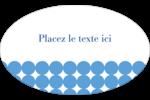 Cercles bleus Étiquettes carrées - gabarit prédéfini. <br/>Utilisez notre logiciel Avery Design & Print Online pour personnaliser facilement la conception.