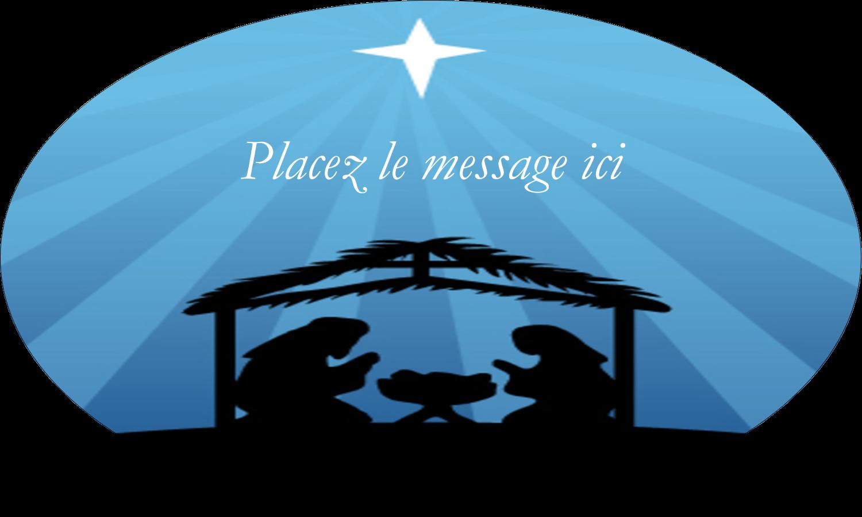 """1½"""" x 1½"""" Étiquettes carrées - Berceau de Noël"""