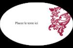 Art noir et rouge  Étiquettes carrées - gabarit prédéfini. <br/>Utilisez notre logiciel Avery Design & Print Online pour personnaliser facilement la conception.