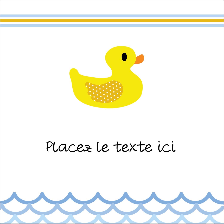 """2"""" x 2"""" Étiquettes carrées - Petit canard"""