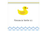 Petit canard Étiquettes carrées - gabarit prédéfini. <br/>Utilisez notre logiciel Avery Design & Print Online pour personnaliser facilement la conception.