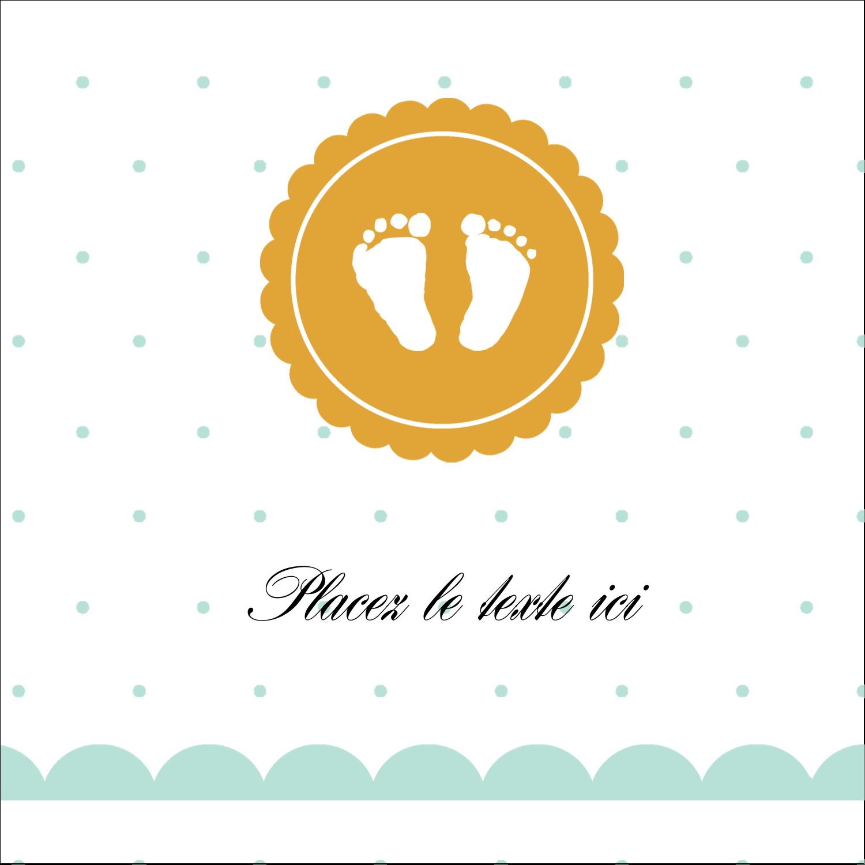 """2"""" x 2"""" Étiquettes carrées - Empreintes de bébé"""
