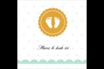 Empreintes de bébé Étiquettes carrées - gabarit prédéfini. <br/>Utilisez notre logiciel Avery Design & Print Online pour personnaliser facilement la conception.