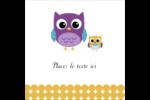 Bébé hibou Étiquettes carrées - gabarit prédéfini. <br/>Utilisez notre logiciel Avery Design & Print Online pour personnaliser facilement la conception.