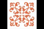 Concept Arc Orange Étiquettes carrées - gabarit prédéfini. <br/>Utilisez notre logiciel Avery Design & Print Online pour personnaliser facilement la conception.