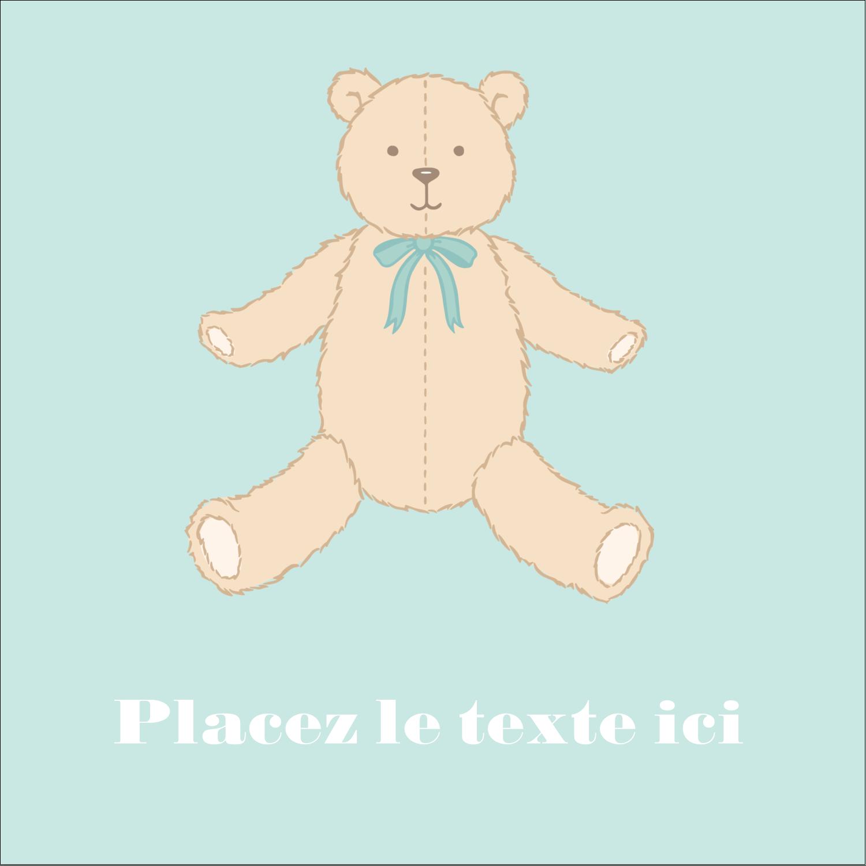 """2"""" Diameter Étiquettes rondes - Nounours pour bébé"""