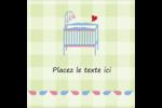Lit de bébé Étiquettes enveloppantes - gabarit prédéfini. <br/>Utilisez notre logiciel Avery Design & Print Online pour personnaliser facilement la conception.