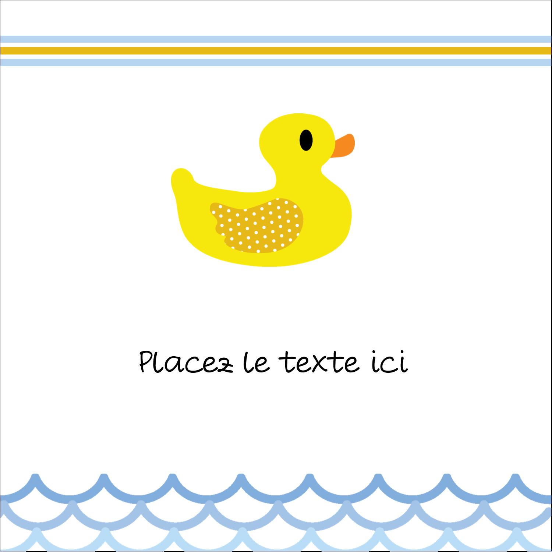 """9¾"""" x 1¼"""" Étiquettes enveloppantes - Petit canard"""