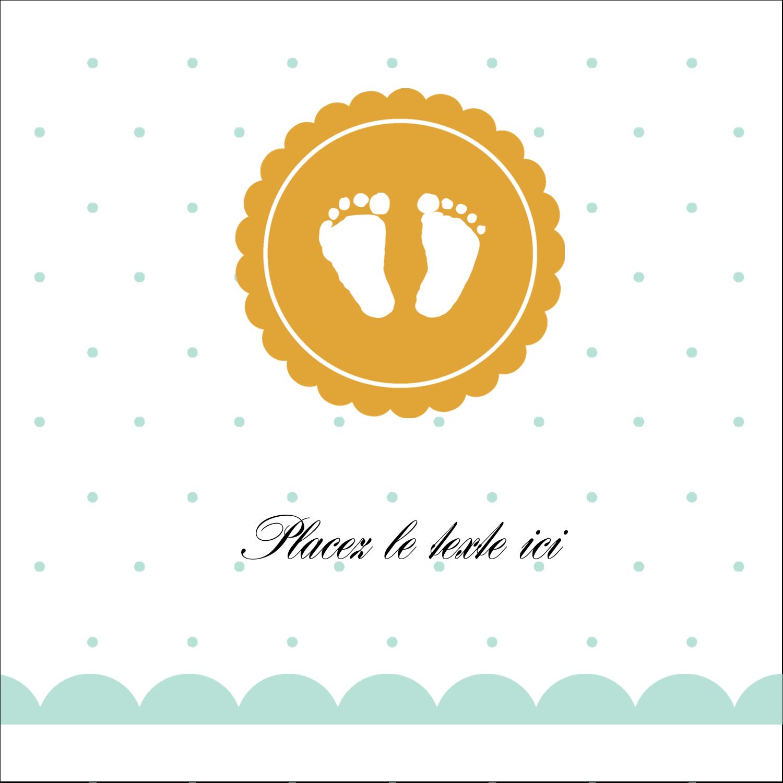 """9¾"""" x 1¼"""" Étiquettes enveloppantes - Empreintes de bébé"""