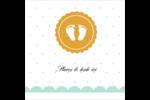Empreintes de bébé Étiquettes enveloppantes - gabarit prédéfini. <br/>Utilisez notre logiciel Avery Design & Print Online pour personnaliser facilement la conception.