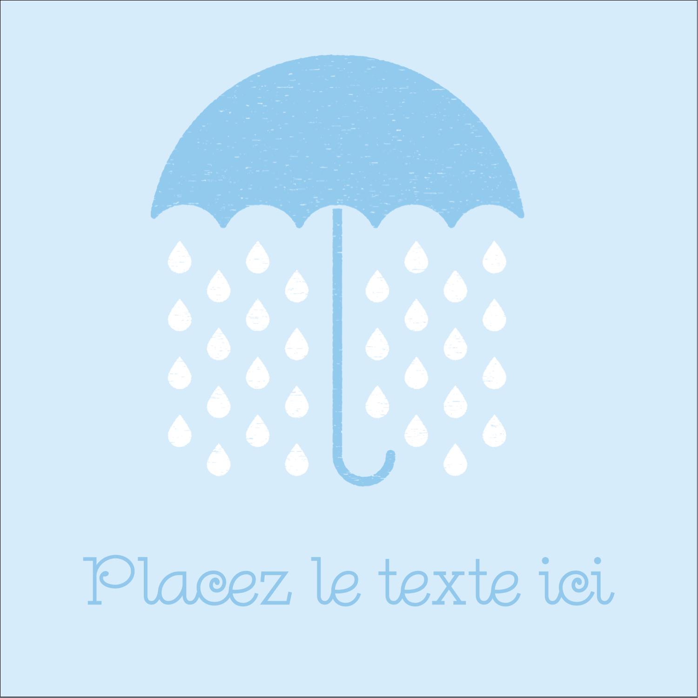 """9¾"""" x 1¼"""" Étiquettes enveloppantes - Parapluie pour bébé"""