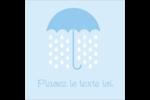 Parapluie pour bébé Étiquettes enveloppantes - gabarit prédéfini. <br/>Utilisez notre logiciel Avery Design & Print Online pour personnaliser facilement la conception.