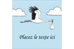 Cigogne et bébé d'antan Étiquettes enveloppantes - gabarit prédéfini. <br/>Utilisez notre logiciel Avery Design & Print Online pour personnaliser facilement la conception.