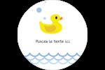 Petit canard Étiquettes rondes - gabarit prédéfini. <br/>Utilisez notre logiciel Avery Design & Print Online pour personnaliser facilement la conception.