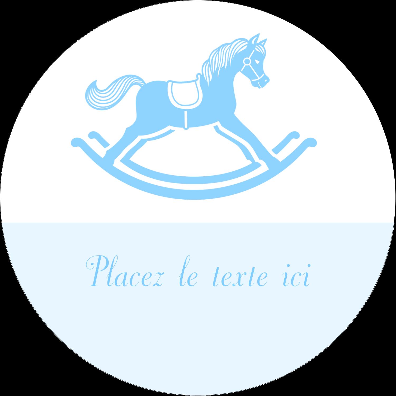 """2½"""" Diameter Étiquettes rondes - Cheval à bascule"""