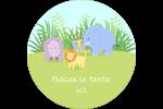 Bébé safari Étiquettes rondes - gabarit prédéfini. <br/>Utilisez notre logiciel Avery Design & Print Online pour personnaliser facilement la conception.