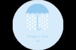 Parapluie pour bébé Étiquettes rondes - gabarit prédéfini. <br/>Utilisez notre logiciel Avery Design & Print Online pour personnaliser facilement la conception.
