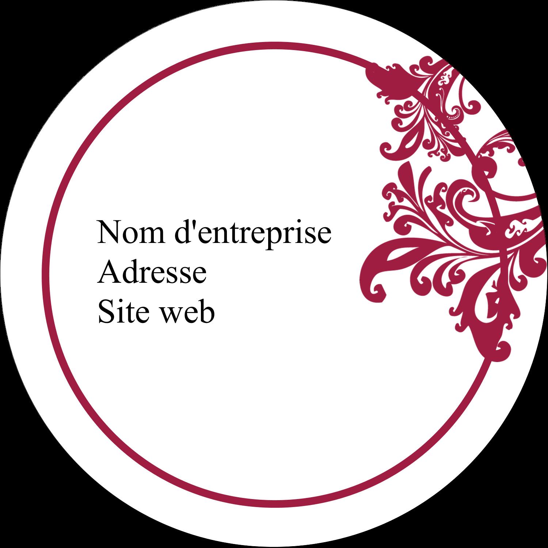 """2½"""" Diameter Étiquettes rondes - Art noir et rouge"""