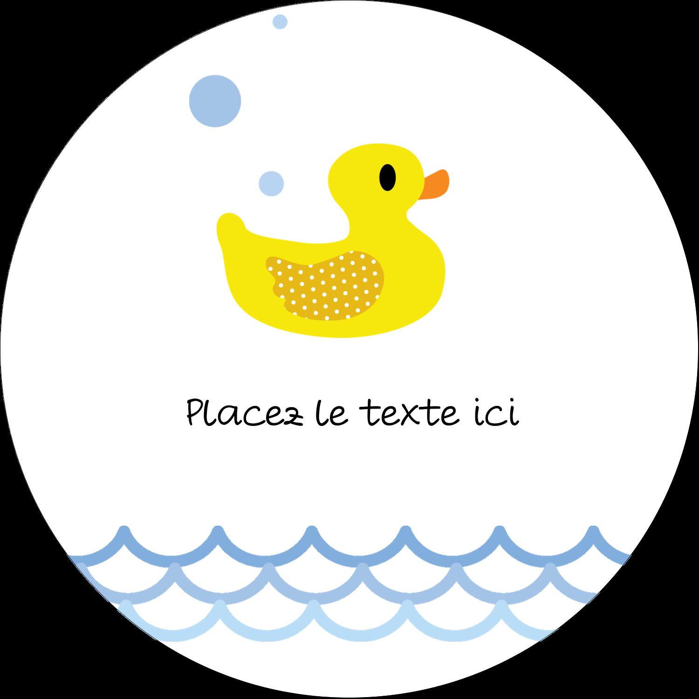 """3"""" x 2¼"""" Étiquettes arrondies - Petit canard"""