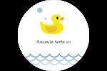 Petit canard Étiquettes arrondies - gabarit prédéfini. <br/>Utilisez notre logiciel Avery Design & Print Online pour personnaliser facilement la conception.
