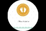 Empreintes de bébé Étiquettes arrondies - gabarit prédéfini. <br/>Utilisez notre logiciel Avery Design & Print Online pour personnaliser facilement la conception.