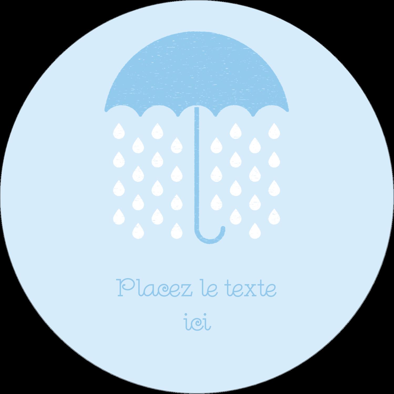 """3"""" x 2¼"""" Étiquettes arrondies - Parapluie pour bébé"""