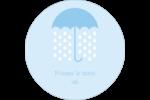 Parapluie pour bébé Étiquettes arrondies - gabarit prédéfini. <br/>Utilisez notre logiciel Avery Design & Print Online pour personnaliser facilement la conception.