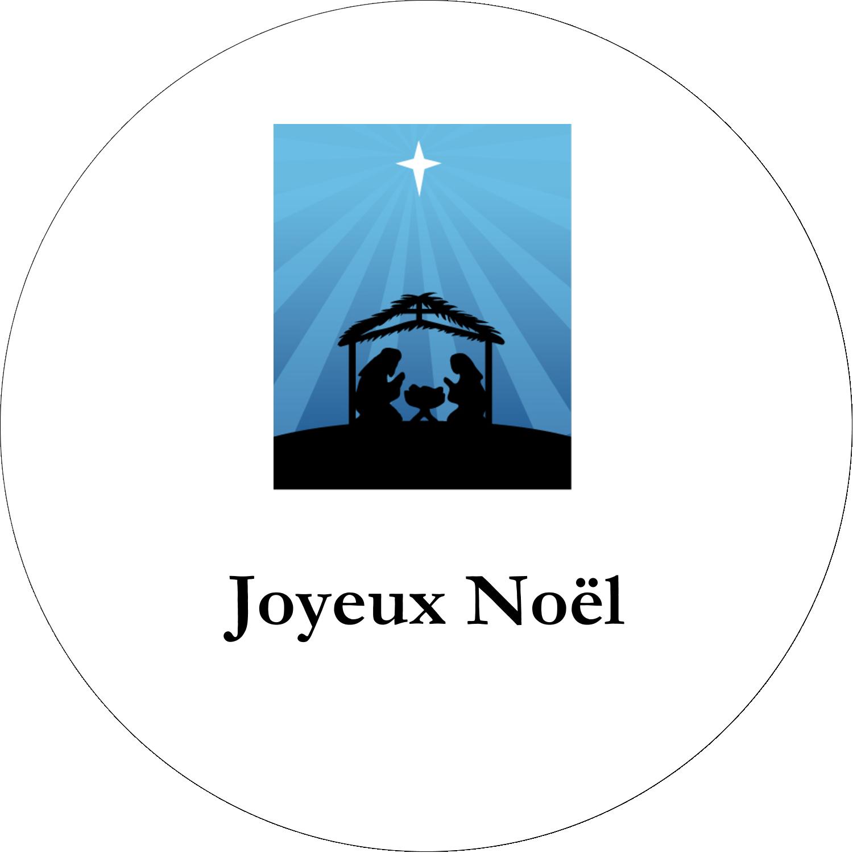 """3-7/16"""" x 15/16"""" Étiquettes de classement - Berceau de Noël"""